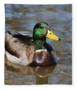Mallard Duck Watches Fleece Blanket