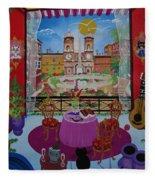 Mallorca, Spain, 2012 Acrylic On Canvas Fleece Blanket