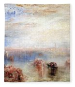 Turner's Approach To Venice Fleece Blanket