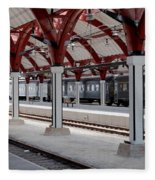 Malmo Train Station Fleece Blanket