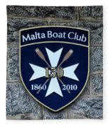 Malta Boat Club Fleece Blanket