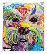 Maltese Puppy Fleece Blanket