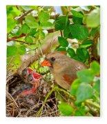 Mama Bird Fleece Blanket