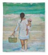 Mama's Beach Day Fleece Blanket