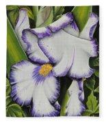 Mama's Favorite Iris Fleece Blanket