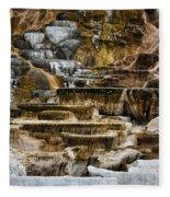 Mammoth Hot Springs - Yellowstone Fleece Blanket