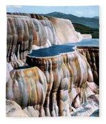 Mammoth Hot Springs Yellowstone Np Fleece Blanket