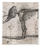 Mammoth Skeleton Fleece Blanket