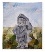 Man And Earth Fleece Blanket