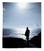 Man And  The Sea Fleece Blanket