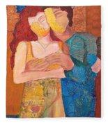 Man And Woman Fleece Blanket