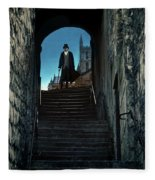 Man At The Top Of The Steps Fleece Blanket