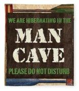 Man Cave Do Not Disturb Fleece Blanket