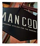 Man Code Fleece Blanket