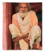 Man From India Fleece Blanket