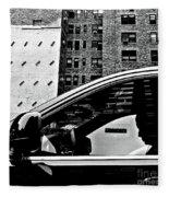 Man In Car - Scenes From A Big City Fleece Blanket