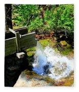 Man Made Waterfall V2 Fleece Blanket