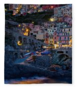 Manarola By Night Fleece Blanket