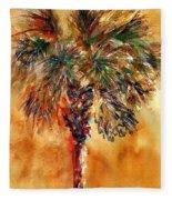 Manasota Key Palm 1 Fleece Blanket
