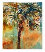 Manasota Key Palm 2 Fleece Blanket