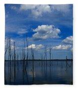 Manasquan Reservoir Panorama Fleece Blanket