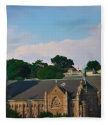 Manayunk - Saint John The Baptist Church Fleece Blanket