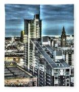 Manchester Buildings Hdr Fleece Blanket