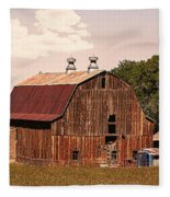 Mancos Colorado Barn Fleece Blanket