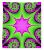 Mandala Cheerful Fleece Blanket