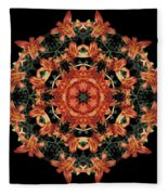 Mandala Daylily Fleece Blanket