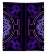Mandala Hypurplectic - Stereogram Fleece Blanket