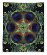 Mandala Peacock  Fleece Blanket