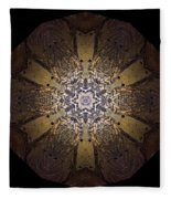 Mandala Sand Dollar At Wells Fleece Blanket