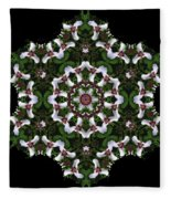 Mandala Trillium Holiday Fleece Blanket