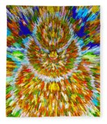 Mandalas Of The Buddha Fleece Blanket