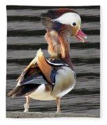 Mandarin Duck Fleece Blanket