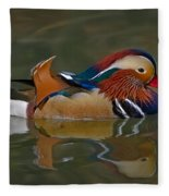 Mandarin Duck Fleece Blanket
