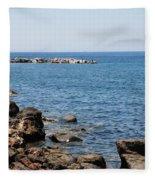 Mandraki Coastline Nisyros Fleece Blanket
