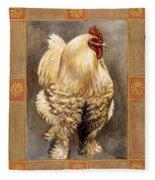 Mandy The Rooster Fleece Blanket