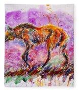 Maned Wolf Fleece Blanket