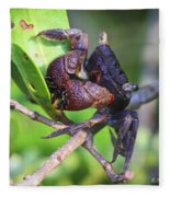 Mangrove Tree Crab Fleece Blanket