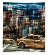 Manhattan - Yellow Cabs - Future Fleece Blanket
