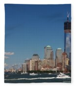 Manhattan Battery Park Skyline Fleece Blanket
