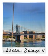Manhattan Bridge Nyc Fleece Blanket