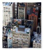 Manhattan From Above Fleece Blanket