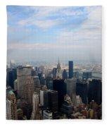 Manhattan Overview Fleece Blanket