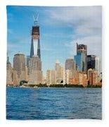 Manhattan Skyline Fleece Blanket