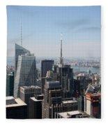 Manhattan View 2012 Fleece Blanket