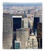 Manhattan View Uptown Fleece Blanket