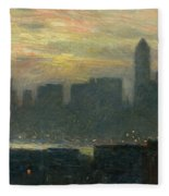 Manhattans Misty Sunset Fleece Blanket